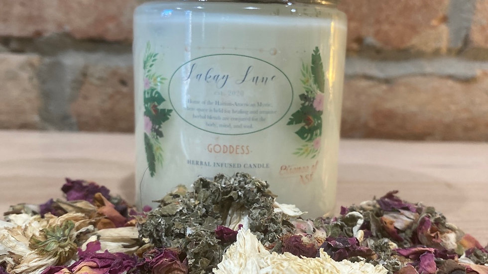 Goddess Herbal Infused Candle (Large)