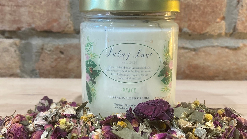 Peace Herbal Infused Candle (Large)