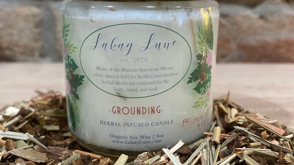 Grounding Herbal Infused Candle