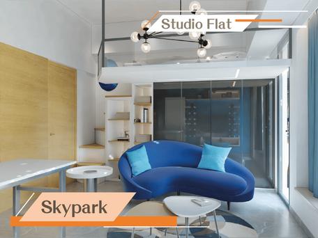 藍白清新格調 打造不規則閣樓設計  實用面積:310呎