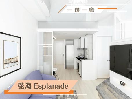 白色玻璃設計 房間打造清新地台  實用面積:343呎