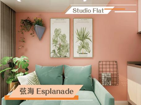 珊瑚橘特色牆 融合自然時尚  實用面積:216呎