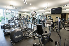 fitness center at the sage st pete condos