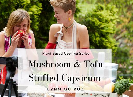 Mushroom & Tofu Stuffed Capsicum Recipe