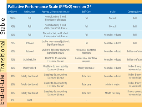 What is the Palliative Performance Scale - part 2