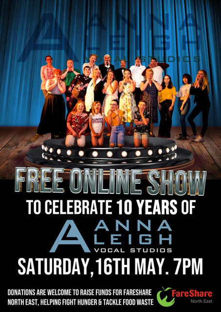 Online lessons, 10 year online charity show and lots of singing projects all in lockdown!