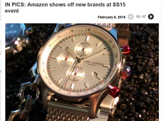 Lars Larson Tachymeter Collection Featured at Amazon SS15 Press Show