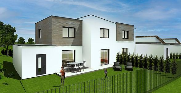 Südwestansicht Doppelhaus201207-himmel.j