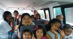 van Kids going on an outing