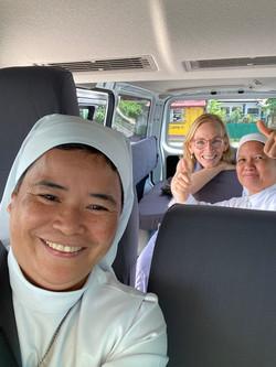 SSV Van driving home from tacloban