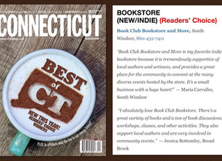 🎉We won Connecticut Magazine Readers' Choice BEST BOOKSTORE New/Indie! THANK YOU to all of our wond