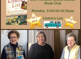 East Windsor Senior Center Book Club