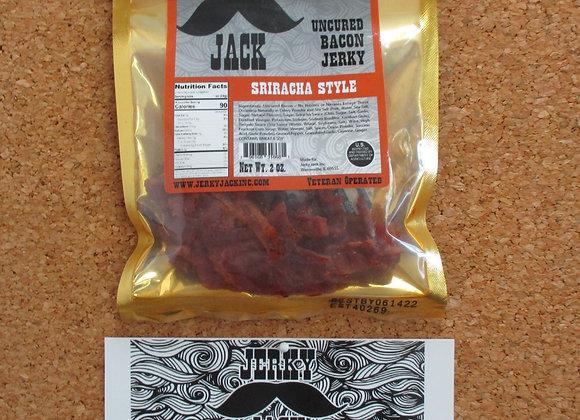 Sriracha Style Uncured Bacon Jerky - 2 oz