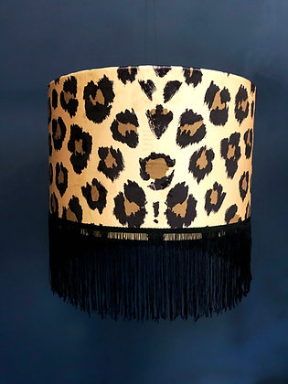 Leopard Print Tassel Light Shade
