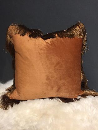 Burnt orange Velvet  scatter cushion