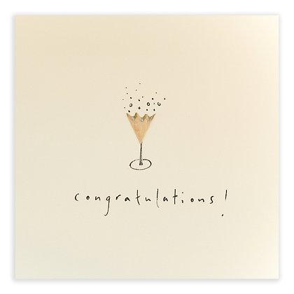Champagne Congratulations Card