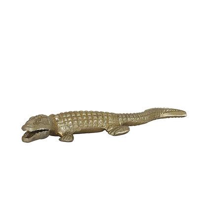 Gold Crocodile Ornament