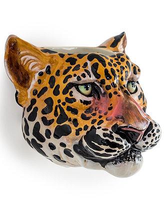 Leopard Head Wall Vase