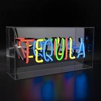 'Tequila' Acrylic Box Neon Light