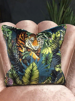 Velvet Tiger Scatter Cushion