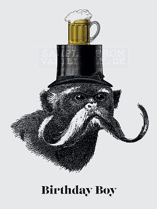 Birthday Boy Monkey Card