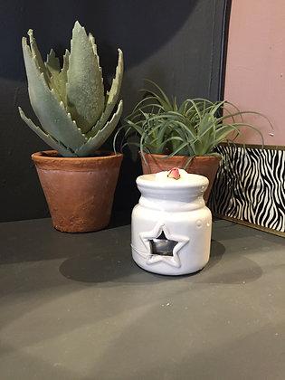 White ceramic star oil burner t set