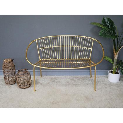 Gold Metal Bench
