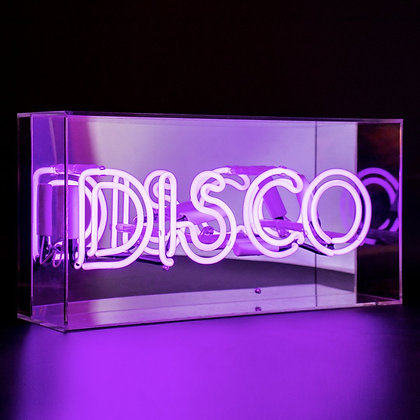 Puple 'DISCO' Neon Box Light
