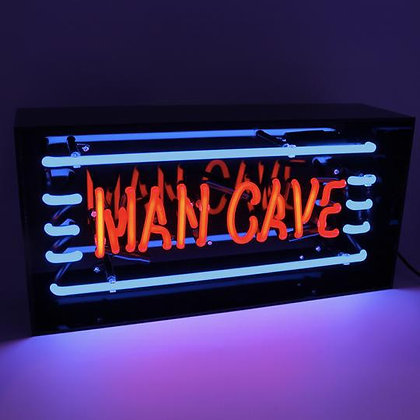 Man Cave' Acrylic Box Neon Light