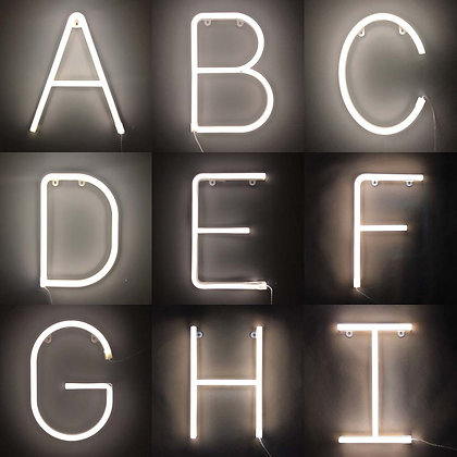 White Neon LED Letters