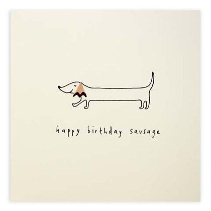 Happy Birthday Sausage Card