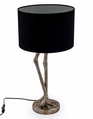 Bird Leg Lamp with Black Lampshade