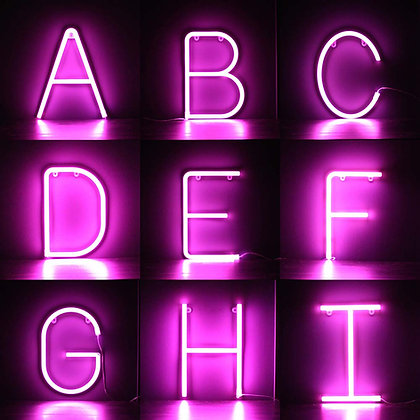 Pink Neon LED Letters