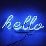 NEON LIGHT 'HELLO' WALL SIGN
