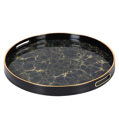 Blue and Gold Mottled Effect Tray