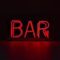 'Bar' Acrylic Box Neon Light