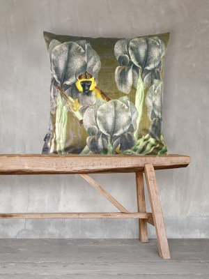 Monkey velvet scatter cushion