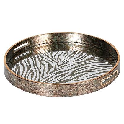 Round Zebra Pattern Tray