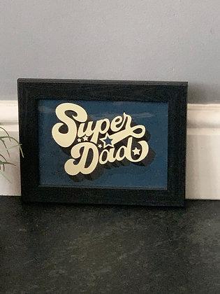 Super Dad A5 Framed Print