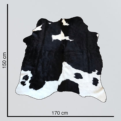 Small black and white cow hide