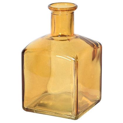 Amber Glass Bottle Vase