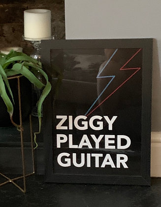 Ziggy Player Guitar A3 Framed Print
