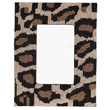 Leopard Print Beaded Photo Frame
