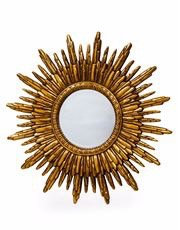 Antique Gold Sun Mirror