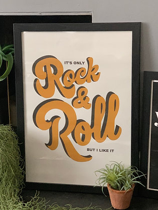 Rock And Roll A2 Framed Print