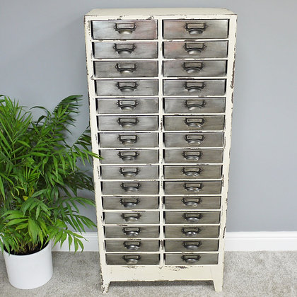 White Metal Industrial Cabinet