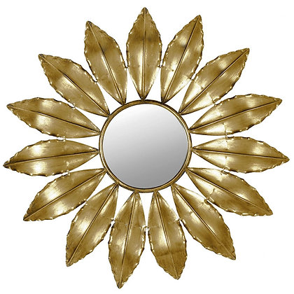 Gold Leaves Wall Mirror