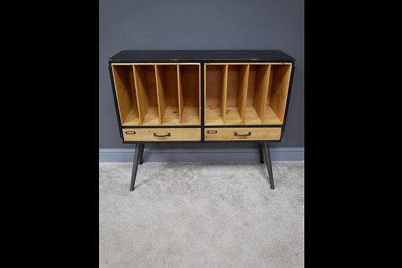Retro sideboard filing /vynll record storage cabinet