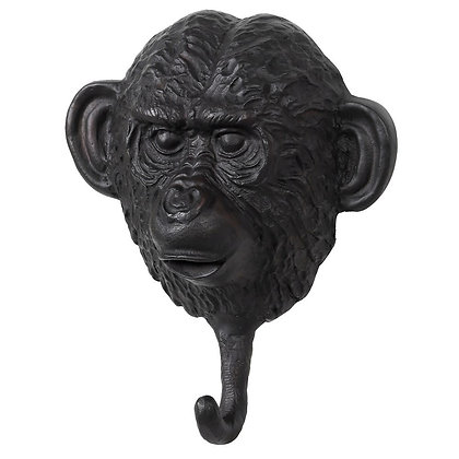 Bronze Monkey Wall Hook in Black