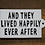 Thumbnail: Happy ever after wall sign
